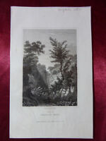 Antique engraving VIEW HEAD OF SHANKLIN CHINE, ISLE OF WIGHT c1830 Veduta print