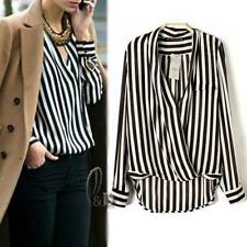 Chiffon Long Sleeve Hand-wash Only Striped Tops & Blouses for Women