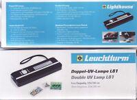 Ultraviolett-Doppel-Handlampe  Fluoreszenz und Phosphoreszens-Bestimmung L-81