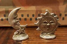 Rare Vintage Gallo Fine Pewter Moon and Sun  Figurine Figure