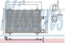 Nissens Condenser 94723 Fit with Peugeot 407