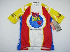 NWT Mens SUGOI Tour De Cure Diabetes Hi Viz Bike Race Raglan Cycling Jersey Sz S