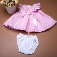 Handmade Pink Bowknot Summer Dress Doll Clothes fits 18 inch Toy Low Price