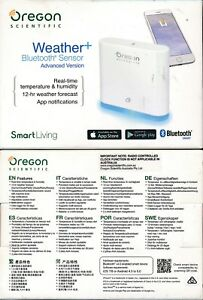 Oregon Scientific Weather+ Bluetooth Sensor Advance Version Weather forecast NEW