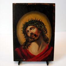 Vintage Jesus in Crown of Thorns Icon