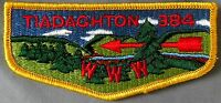MERGED TIADAGHTON OA LODGE 384 BSA WEST BRANCH COUNCIL PA PATCH 343 SERVICE FLAP
