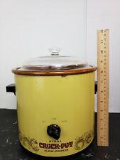 Vintage Rival Crock Pot Slow Cooker 3100/2 Vintage/Yellow Green