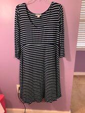 Women's Motherhood Marernity Navy Blue Dress Size L