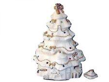 "2003 Lenox China Jewels Centerpiece Tea Light Christmas Tree New In Box 11 7/8"""