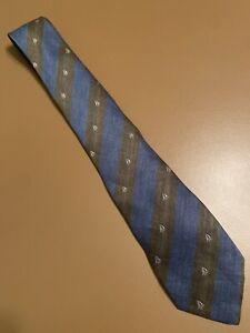 """Euc Salvatore Ferragamo Rare Silk Linen Tie Fine Sailboat Striped Italy 58"""" 3"""""""