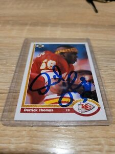 Derrick Thomas 1991 Upper Deck Autographed Card