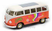 WELLY 22091OF or 22091YF VW TI BUS models FLOWER POWER orange yellow 1963 1:18