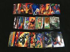 1994 DC COMIC MASTER SERIES 90 CARD SET! BATMAN SUPERMAN FLASH WONDER WOMAN JLA