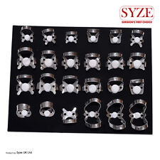 SYZE Dental Endodontic 24 Pcs Rubber Dam Clamps Orthodontic Instruments Lab CE