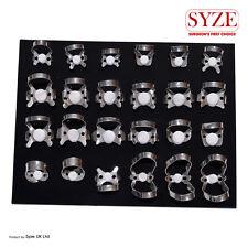 SYZE Dental Endodontic 24 Pcs Rubber Dam Clamps Orthodontic Instruments Lab CE