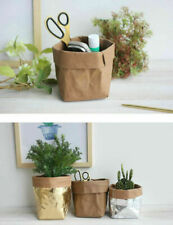 Kraft Paper Fruit Vegetable Storage Bag Plant Flower Pot Grow Bag Basket Garden