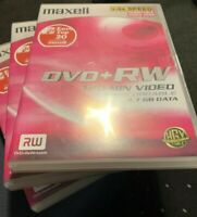 Maxell DVD+RW Re-Recordable Rewritable x3 Blank Discs Brand New & Sealed