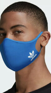 Adidas Face Cover Mask Breathable Brand New Reusable Size Medium to Large Blue