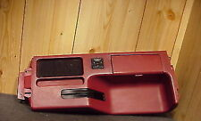FORD MUSTANG 87-93 1987-1993 CONSOLE DECK RED CENTER CONSOLE DECK