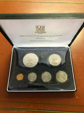 1973 First Coinage of the British Virgin Islands 6 Coin,Silver Dollar Proof Set