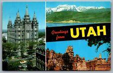 Postcard UT c1957 Greetings from Utah Multi View