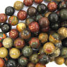 """Multicolor Picasso Jasper Round Beads 15.5"""" Strand 4mm 6mm 8mm 10mm 12mm"""