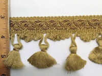 "New Conso Gold 2.5"" to 3"" Fringe Trim Tassel Upholstery Drapery 24 Yards Bolt"