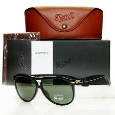 Authentic Persol Roadster Sunglasses Mens Pilot Glossy Black 3008 95/31