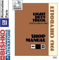 1983 Chevrolet GMC  Truck Shop Service Repair Manual CD Engine Drivetrain Wiring