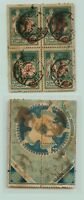 Latvia 1919,SC 84 used block of 4 . e6868