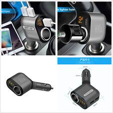 3.1A Car SUV Cigarette Lighter Socket Adapter Charger DC 12/24V With 3 USB Port