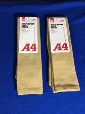 2 Pairs A4 Multi-Sport Tube Socks Vegas Gold, Medium S8005