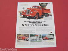 International KB Trucks & Syracuse China Original Full page Advertisements