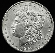 1897-p Morgan Silver Dollar.  B.U.*  VAM.  see below. (Inv.A)