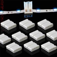 10x LED SMD RGB un soldador Connector Adaptador Conector embrague para Strip
