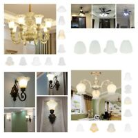 Clear & Frosted Glass Light Shade Ceiling Fan Chandelier Replacement Shades