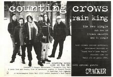 "NEWSPAPER CLIPPING/ADVERT 8/10/94PGN39 7X11"" COUNTING CROWS : RAIN KING SINGLE"
