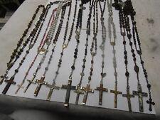 LOT DE 14 CHAPELETS ANCIEN CROIX JESUS RELIQUE RELIGION FRANCE