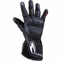 RIcha WSS Full Leather Sports Summer Racing Cruiser Motorcycle Gloves - Black