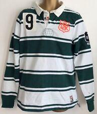 Para Hombre a Rayas Camisa De Rugby Irlanda Talla L