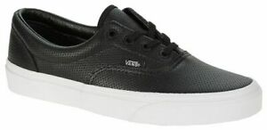 Vans Off The Wall ERA LACE UP UNISEX LEATHER TRUE BLACK  VN-018FDJ6