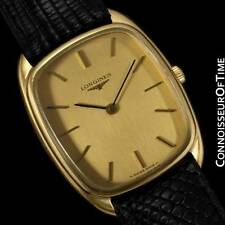 LONGINES Mens Classic Handwound Dress Watch - 18K Gold Plated & Stainless Steel