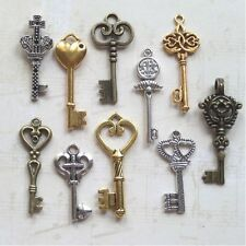 20 New old look keys party event 3 colors wedding heart filagree cross steampunk