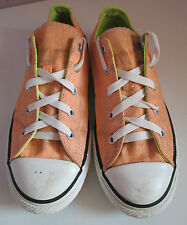 VTG Unisex Chuck Taylor CONVERSE Orange/Lime Canvas Lo Plimsoll/Shoe Size 3.5