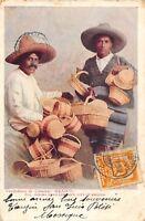 CPA MEXIQUE VENDEDORES DE CANASTAS MEXICO  (dos non divisé)