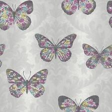 ARTHOUSE MIDSUMMER DOVE SILVER GLITTER BUTTERFLYS QUALITY WALLPAPER 661203