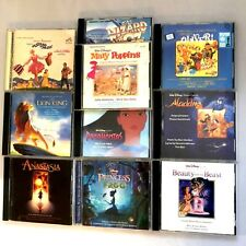 Disney Movie Soundtracks CD Fantasia Lion King Beauty & Beast Anastasia CD Lot