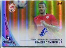 Topps Premier Gold fútbol 13/14 oro paralelo autógrafo SP-FC Fraizer Campbell