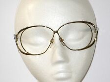 336931f7673 CHRISTINA EYEGLASS FRAMES Double Gold Metal   Black Arms Vintage 1980 s