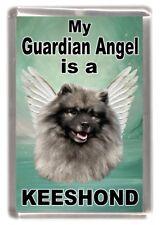 "Keeshond Dog Fridge Magnet ""my Guardian Angel Is a Keeshond"" by Starprint"
